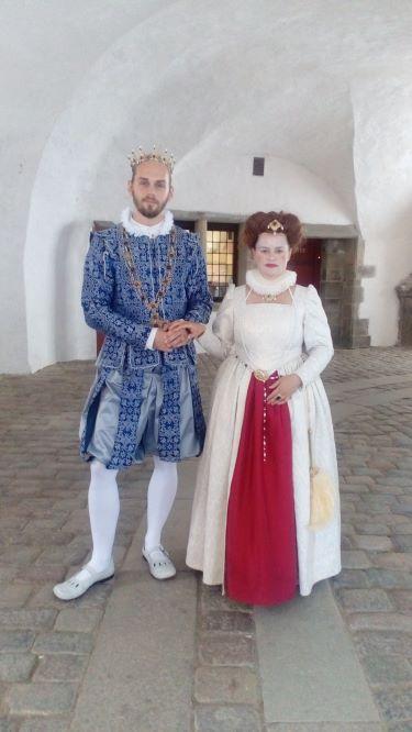 ハムレットの舞台、世界遺産のクロンボー城では、夏期にハムレットの寸劇を披露してくれます。