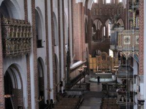 ロスキレ大聖堂には、王家の方々がミサの際にお使いになった王家専用席もあります。