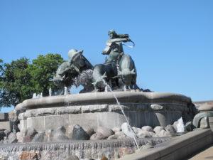 北欧神話の女神ゲフィオンの泉